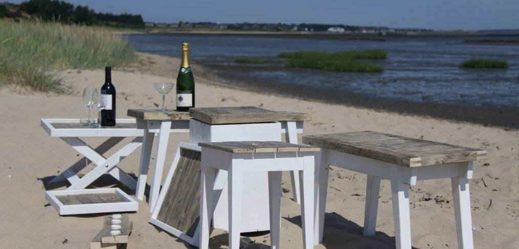 Beachhouse Möbel aus Stegholz von der Insel