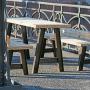 Outdoor-Tisch mit Sitzbank